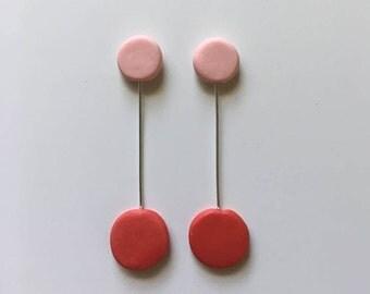 Ruby Rose: suspended drop earrings