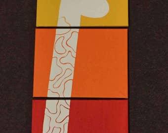 Handpainted Giraffee 3-Canvas Set