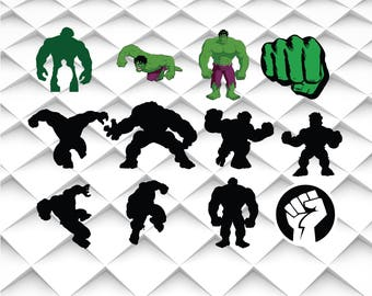 HULK svg,jpg,eps,ai format for Design/Print/Silhouette Cameo/Cricut and Many More