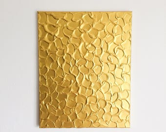 Gold Metallic Painting, Gold Acrylic Painting, Textured Painting, Abstract Metallic Art, Gold Painting, Original Abstract Art