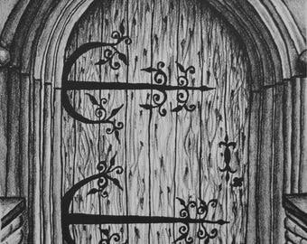 """Andy's Door (9"""" x 7.5"""")"""