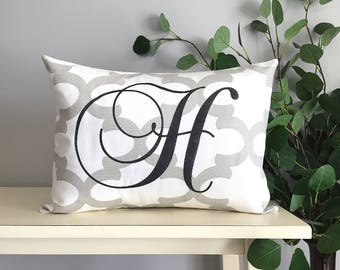 Personalized Monogram Pillow, Decorative Pillow, Rustic Home Decor, Accent Pillow, Personalized Gift, Monogrammed Gift