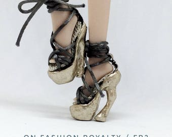 Shoes for Fashion Royalty FR2(FR2013) 12inch/ FRSH01/Fashion Royalty accessory, OOAK doll shoes, Fashion Doll shoes,1:6doll shoes