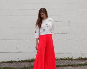 Vintage / 60's Red PalazzoPants