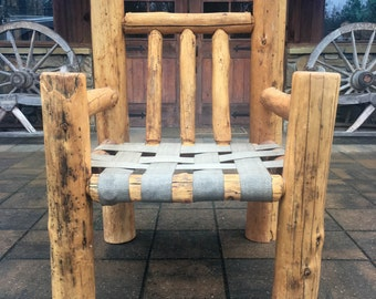 Handmade Cedar Log Chair