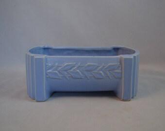 McCoy Pottery Sand Butterfly Blue Fern Box Planter