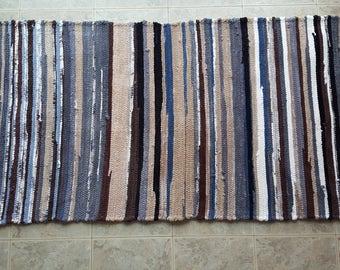 Rag rug, woven rug, throw rug, kitchen rug, bathroom rug, hallway runner, foyer rug, upcycled minky rug,super soft rug