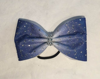 Taillless Glitter Cheer Bow