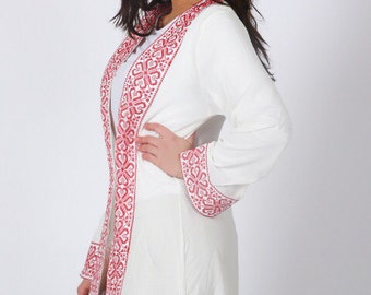 Creme Long Sheer Kimono