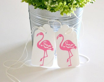 Pink Flamingo Party Favor Tags, Pink Flamingo Birthday, Flamingo Bachelorette Party, Pink Flamingo Baby Shower Tropical Party Decor
