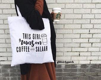"Canvas bag ""Coffee and Salaah"""