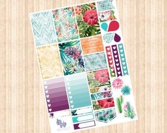 Tropical Weekly Kit // Happy Planner // Erin Condren // Personal