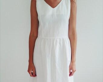 Crisp white dress (SALE)