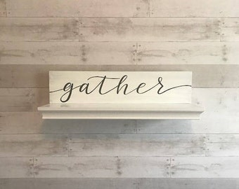 wood farmhouse sign-gather