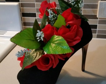 Floral-flower- high heel-rosers-decoration-gift