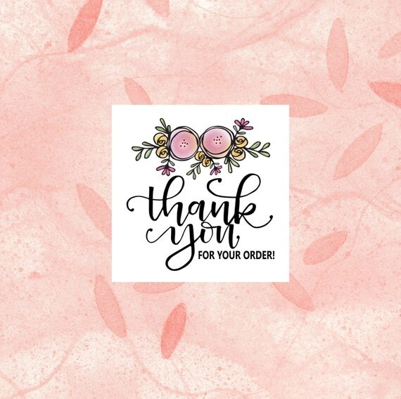 Thank You For Your Order >> Thank You For Your Order Sticker Sheets