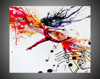 Sheet Music watercolor painting, Watercolor painting, Sheet music art, Sheet music decor, Sheet music painting, Music art, Music wall art