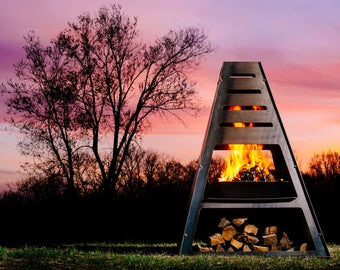 Blaze Monolith Metal Chiminea Vertical Fire Pit