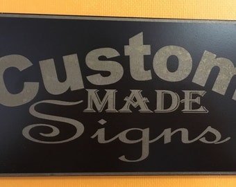 Medium Custom Engraved Metal Sign
