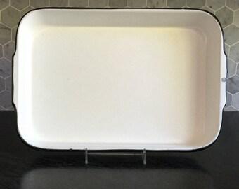 Vintage Enamel Ware Casserole Pan