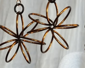 Wire Flower Earrings (SM)
