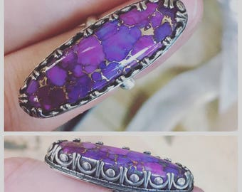 Purple Mojave Turquoise Ring