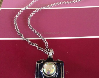 Camera Blinged out Necklace
