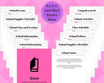 School Info Printable