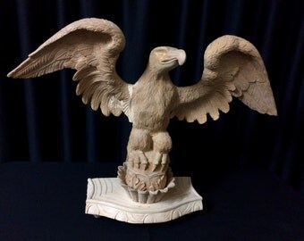 Proud Eagle: A Wood Carved Sculpture