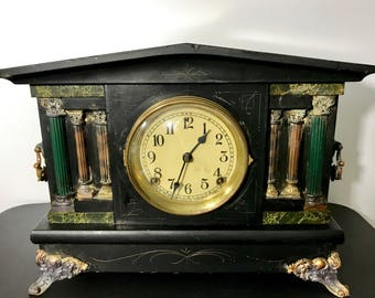 Vintage Sessions Mantel Clock with Key