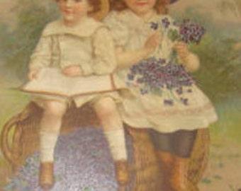 Vintage Tuck Postcard (Cute Kids)