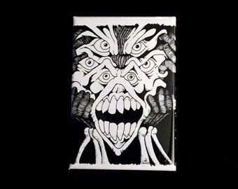 Noble Nightmares Timothy Noble Ink 01 Art Magnet