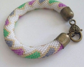 Lovely handmade Bracelet gift for your mother with Czech bead