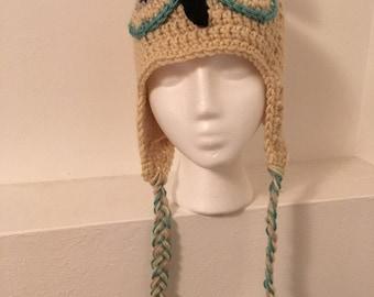 Owl Crochet Hat, Orlene