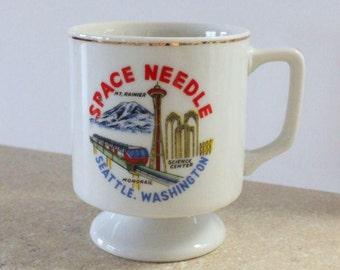Souvenir Seattle Washington Space Needle Cup Mug Mt Rainier