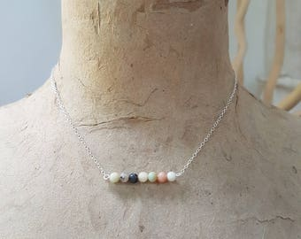 Amazonite's 925 sterling silver necklace - gemstone