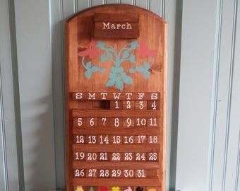 Butterfly Calendar,wooden Calendar, perpetual calendar, wooden sign, housewarming gift, home decor, wood calendar, gift, handmade gift,