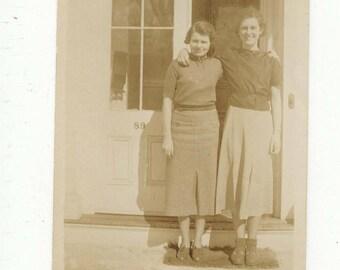 "Vintage photo ""Best friends forever"" Found photo, vernacular, snapshot, mixed media, scrapbook, antique photo M66"