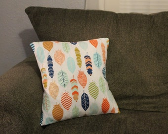 Feather Printed Pillow Cover