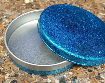Glitter Blue Tin