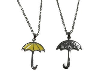 You're My Yellow Umbrella Necklace How I Met Your Mother Double Sided Pendant HIMYM TV Show Gift Jewelry Ted Mosby High Quality
