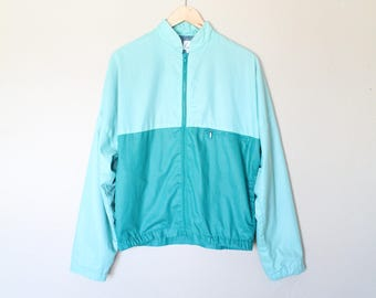 1980s Vintage Teal Jacket