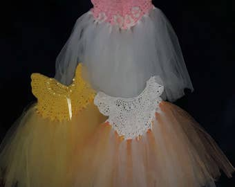 New born handmade tulle dresses