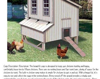 Backyard Chicken House / Coop Plans Modern Roof Style , 90506M