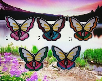 Colorful Butterflies Iron On Patches