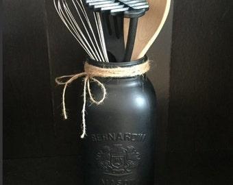 Extra large painted mason jar