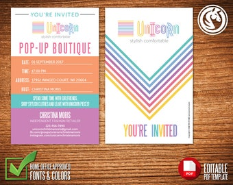 LLR Invitation Card, Editable Template, Printable Template, PDF Instant Download #IC0001C