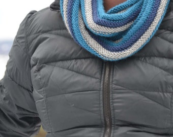 Blue and Gray infinity scarf
