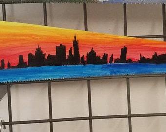 San Francisco Skyline Painted Saw