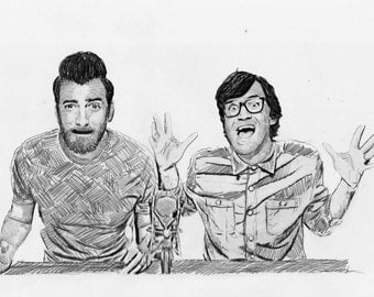 Rhett and Link/Good Mythical Morning Realism Drawing